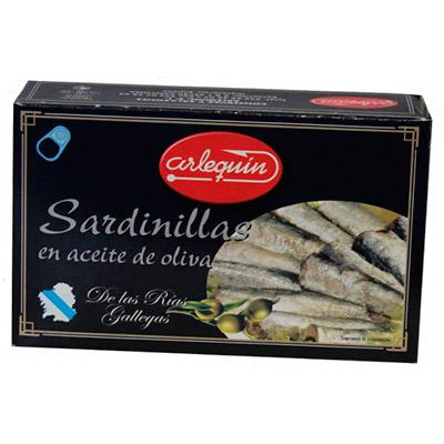 Sardinillas en aceite de oliva Arlequín